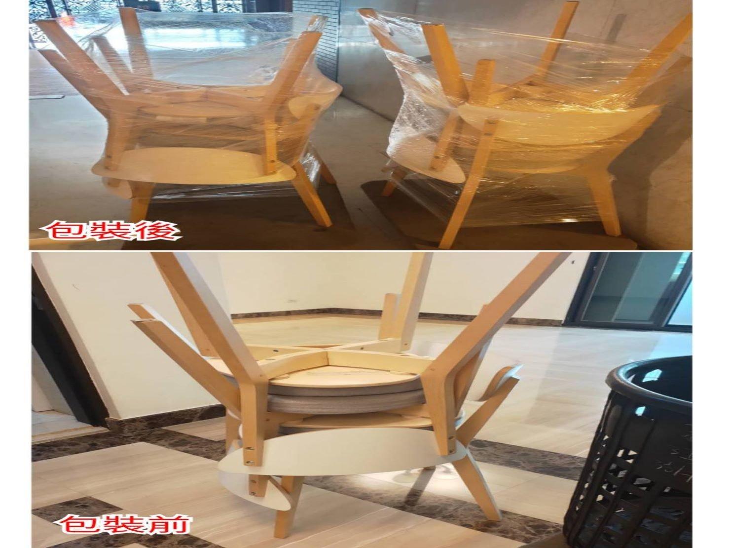木製餐椅搬家包裝方式|搬家公司推薦-榮福搬家大型家具搬運首選
